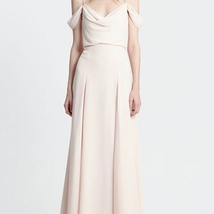 Monique Lhuillier Blush Chiffon 450396 Feminine Bridesmaid/Mob Dress Size 10 (M)