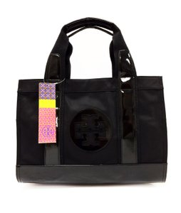 Tory Burch Mini Nylon Pvc Tote in Black