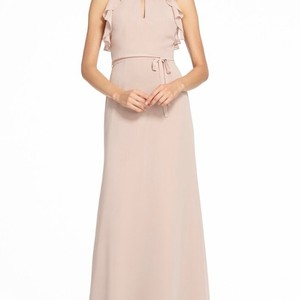 Monique Lhuillier Rose Chiffon 450527 Modest Bridesmaid/Mob Dress Size 10 (M)