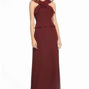 Monique Lhuillier Garnet Chiffon 450528 Formal Bridesmaid/Mob Dress Size 12 (L)
