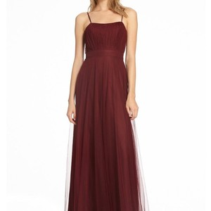 Monique Lhuillier Cabernet Tulle 450533 Feminine Bridesmaid/Mob Dress Size 8 (M)