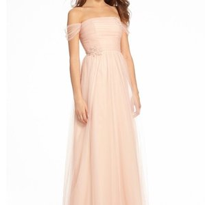 Monique Lhuillier Bellini Tulle 450536 Feminine Bridesmaid/Mob Dress Size 12 (L)