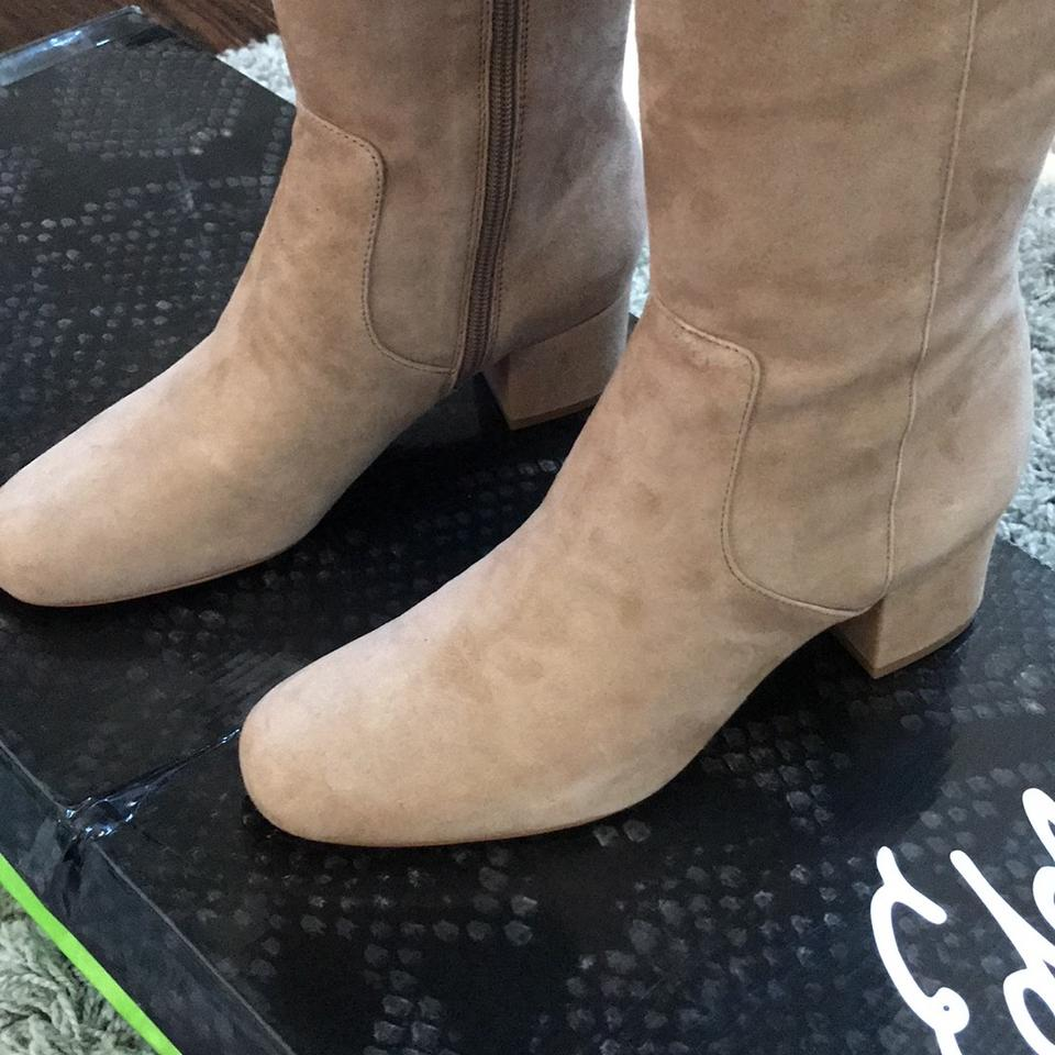 97bab046accb65 Sam Edelman Oatmeal Elina Over-the-knee Boots Booties Size US 6.5 Regular  (M