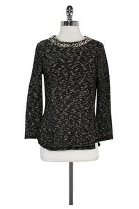 Rebecca Taylor White Studded Sweater