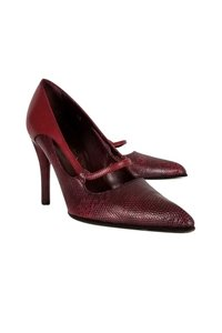 Tod's Textured Pointed Heels red Pumps