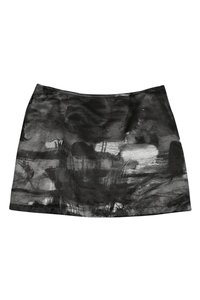 Moschino Jeans Grey Paint Stroke Skirt