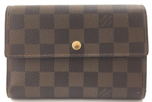 Louis Vuitton Wide Large Long trifold Flap Wallet Pocket Bill Holder card coin