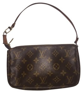Louis Vuitton Brown, Gold Clutch