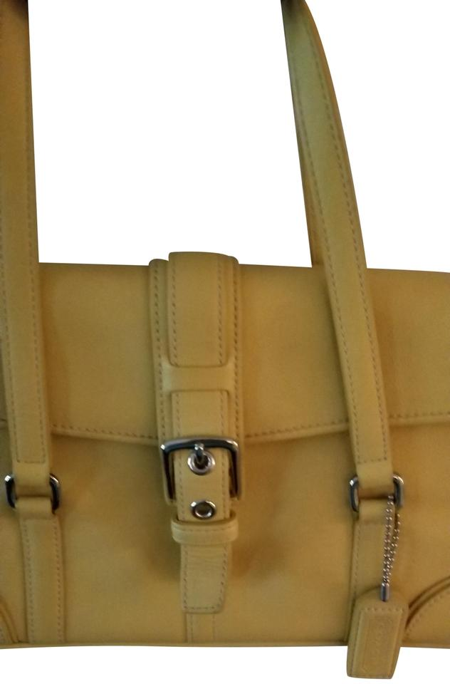 2d30410a63ec Coach Vintage Light Yellow Leather Satchel - Tradesy