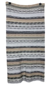 Free People Straight Long Stretch Knit Maxi Skirt Multi-color