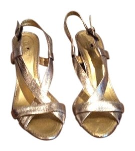 J. Crew Metallic Gold Sandals