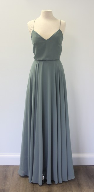 Item - Green Chiffon Inesse Formal Bridesmaid/Mob Dress Size 12 (L)