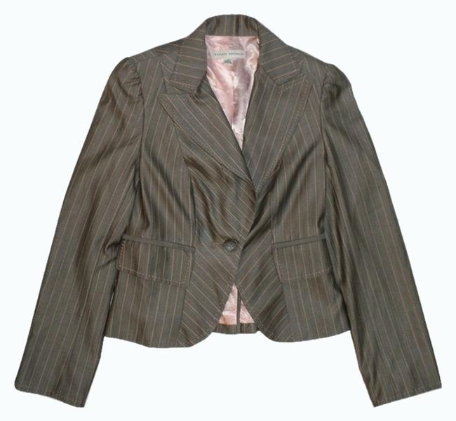 Preload https://item1.tradesy.com/images/banana-republic-gray-and-pink-pinstriped-blazer-size-0-xs-2326750-0-0.jpg?width=400&height=650