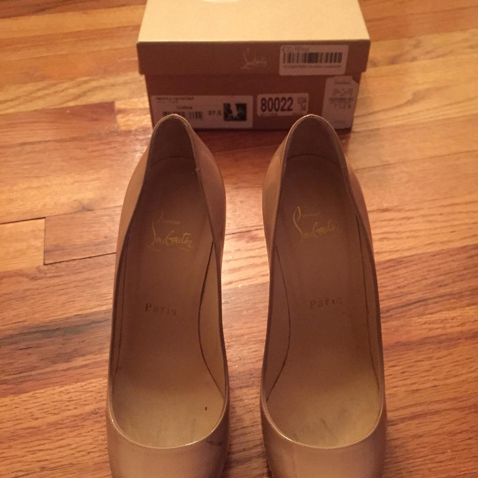 Christian Louboutin Nude New Simple 120 Beige Patent