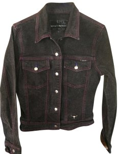 Sergio Valente Black Womens Jean Jacket