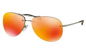 Prada PRADA Aviator Orange Brown Mirror Sunglasses PR-PS50RS-5AV5M0-59