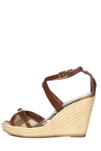 Burberry Brown/Check Wedges