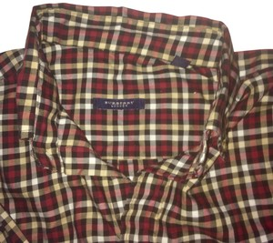 Burberry Men's Shirt Plaid Shirt Plaid Shirt Cotton Button Down Shirt Multi-Color