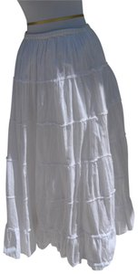 Passport Maxi Skirt white