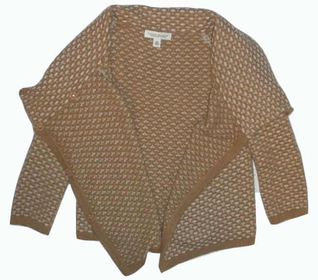 Preload https://img-static.tradesy.com/item/2326813/banana-republic-tan-and-ivory-sweaterpullover-size-2-xs-0-0-650-650.jpg
