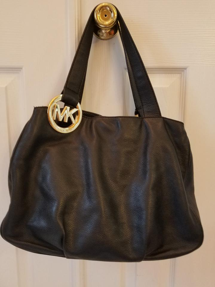 1235826bc6c0 Michael Kors Fulton East West Large Black Leather Shoulder Bag - Tradesy
