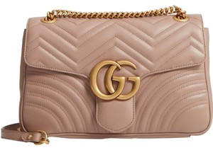 977244d9188 Added to Shopping Bag. Gucci Shoulder Bag. Gucci Marmont Medium Gg 2.0 Matelassé  Pink Leather ...
