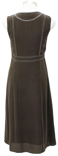 Item - Green Silver A48 Designer Small S Army Sequin Long Formal Dress Size 4 (S)