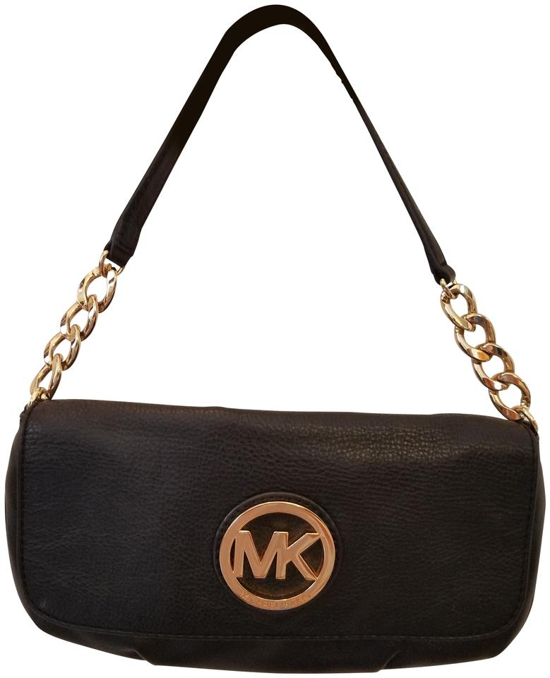 0d0ffae52016 Michael Kors Small Pebbled Black Leather Shoulder Bag - Tradesy