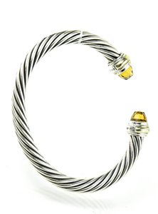 David Yurman David Yurman Cable Classic Bracelet with Citrine and 18kt Gold