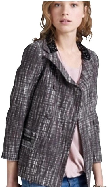 Item - Gray Collection Contessa Coat Tweed Jeweled Bead Double Jacket Size 0 (XS)