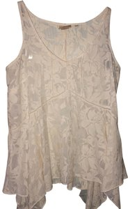 Anthropologie Embroidered Top white/cream
