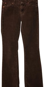 7 For All Mankind Corduroy Winter Fall Petite Classic Boot Cut Pants brown