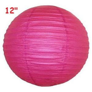 "Fuchsia 10x 12"" Round Paper Lanterns Party Birthday Ceremony Decoration"
