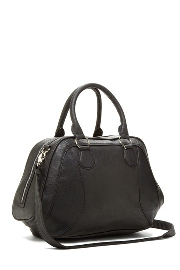 Romeo Juliet Couture Tassels Faux Leather Satchel In Black