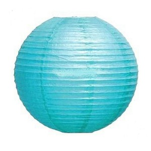 """Teal / Turquoise Light 10x 12"""" Round Paper Lantern Party Birthday Decorate Ceremony Decoration"""