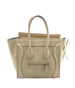 Céline Leatherxsuede Tote in Tan