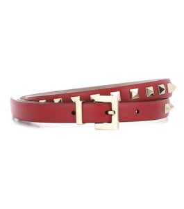 Valentino NEW Valentino Garavani Rockstud Leather Belt Red 95 37.5