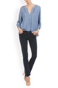 AG Adriano Goldschmied Stretchy Corduroy Mid-rise Cigarette Skinny Jeans-Dark Rinse