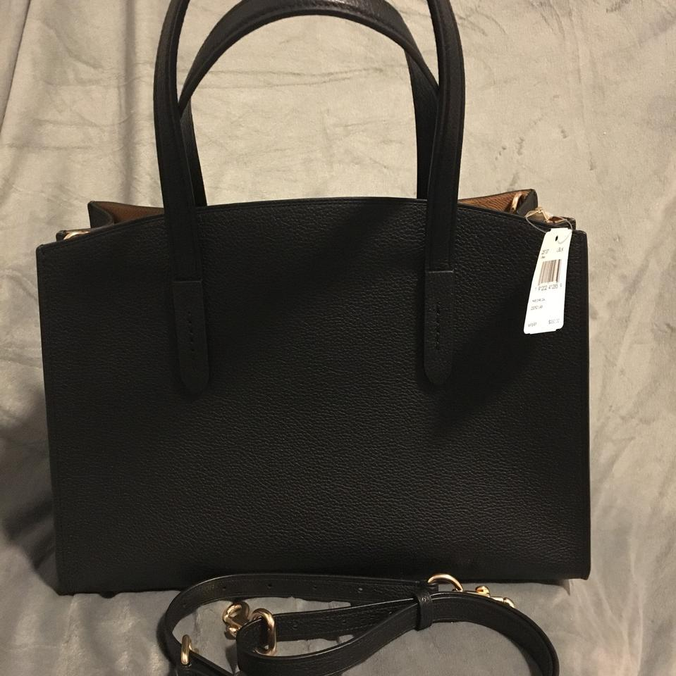 2db32836c1 Coach Charlie Carryall 25137 Black Silver Pebbled Leather Satchel ...