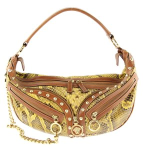 Versace Multi-color Leatherxsnakeskin Shoulder Bag