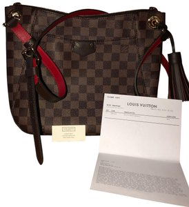 f7797babf9ad Louis Vuitton South Bank Besace Brown Leather and Canvas Cross Body ...