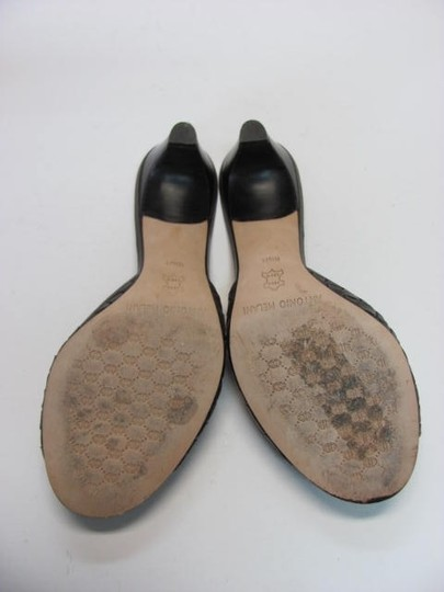 Antonio Melani Size 8.50m Leather Sole brown Mules