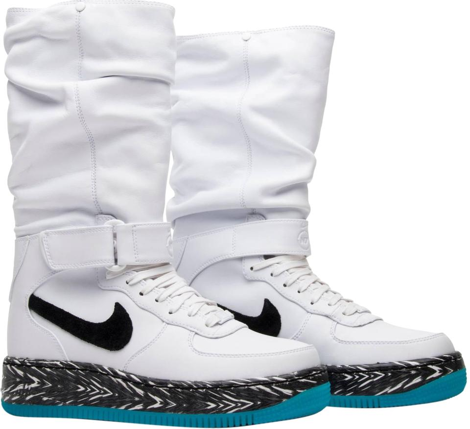 d256eac89cce Nike White Air Force One Upstep N7 Warrior Sneaker Boots Booties ...