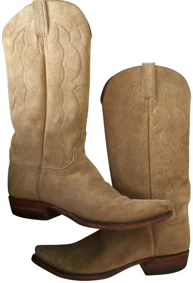 7322d6b7cf5 Lucchese Tan Camel Suede Cowboy Boots/Booties Size US 8.5 Regular (M, B)  49% off retail