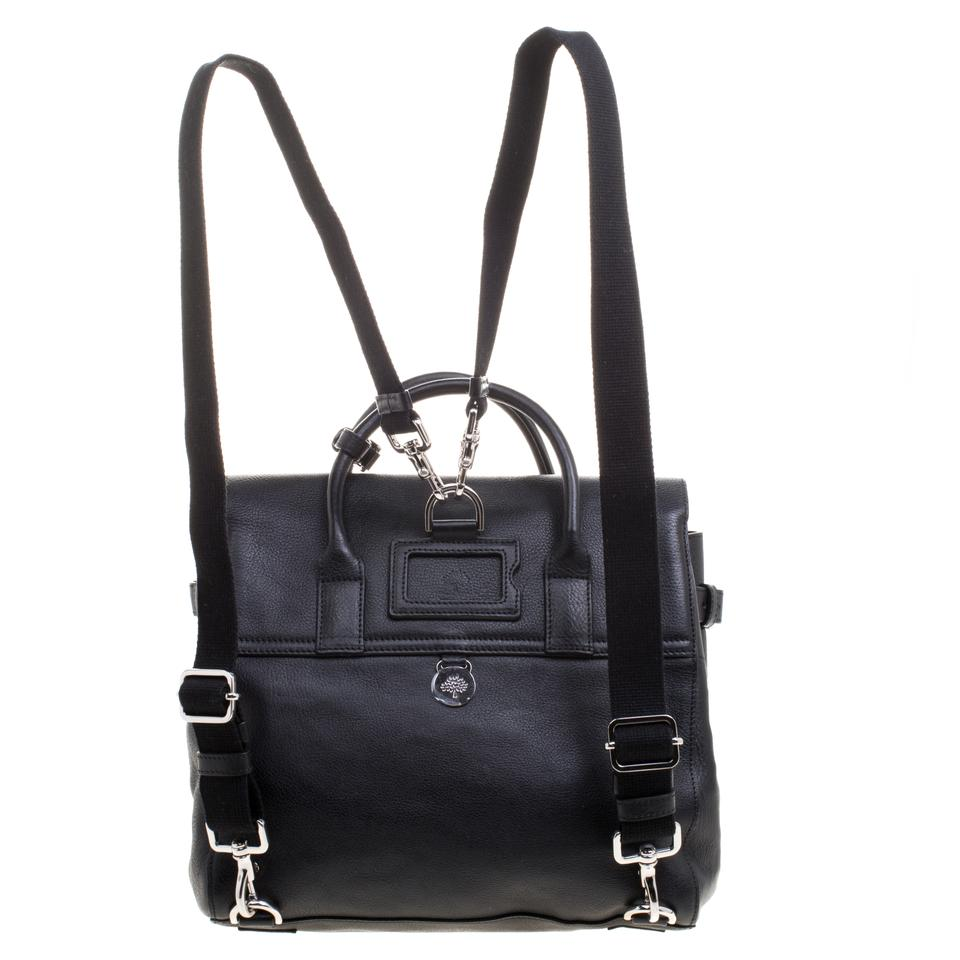 bb163f7557f Mulberry Bayswater Cara Delevingne Black Leather and Suede Backpack -  Tradesy