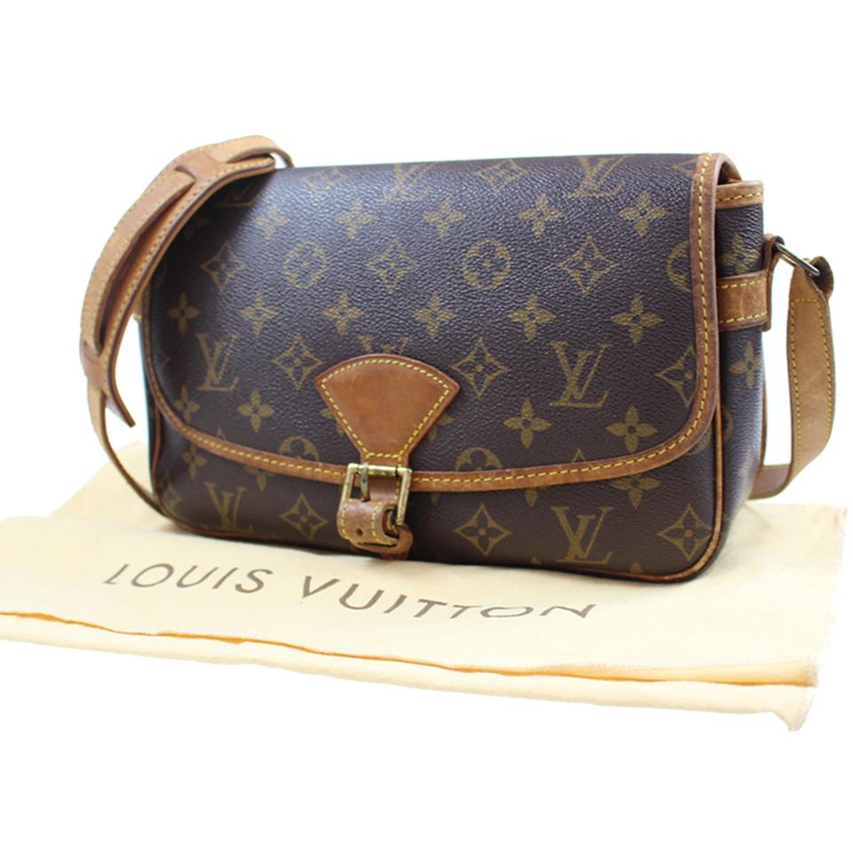 13ca03bf25bb Louis Vuitton Sologne Shoulder M42250 Vintage Brown Monogram Canvas ...