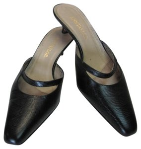 Ann Taylor Leather Size 7.50m BLACK Mules