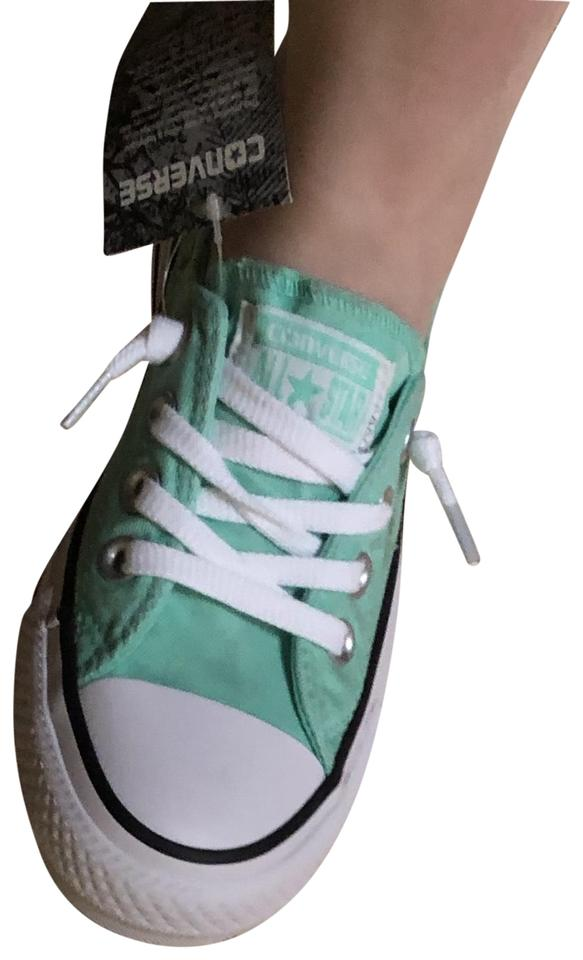 c1c4e3f6500f53 Converse Mint Green Lowtop Basketball Type Sneakers Size US 5 ...