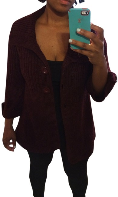 Preload https://item2.tradesy.com/images/carolyn-taylor-cardigan-cranberryburgundy-2327086-0-0.jpg?width=400&height=650