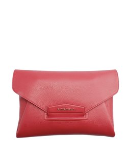 Givenchy Leather Red Clutch
